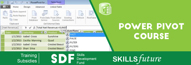 Excel Power Pivot Training Singapore | MS Excel Power BI Courses